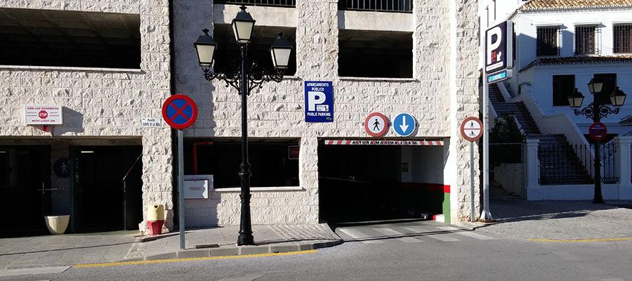 Aparcar en Mijas Pueblo, Parking de Mijas
